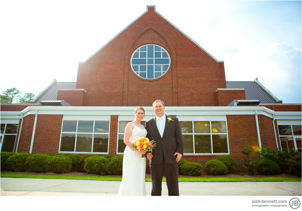 outside church wedding photography birmingham alabama