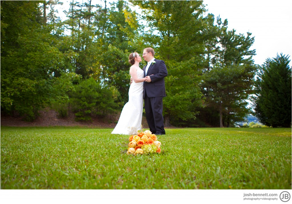rebecca and charles little wedding photographer together with flowers