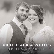Rich black and white lightroom preset